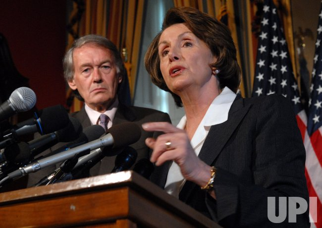 PELOSI, MARKEY DISCUSS GLOBAL WARMING IN WASHINGTON