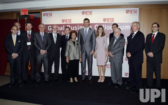 "Spain's Crown Prince Felipe and Princess Letizia Host a ""Global Business Colloquium"" at IESE Business School-University of Navarra's in New York"