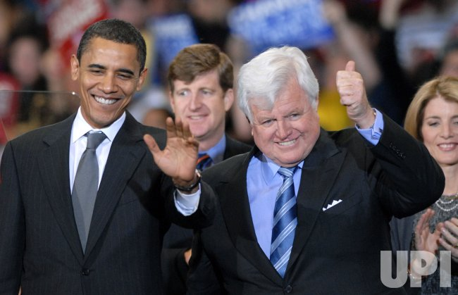 Te Kennedy endorses Barack Obama for President in Washington