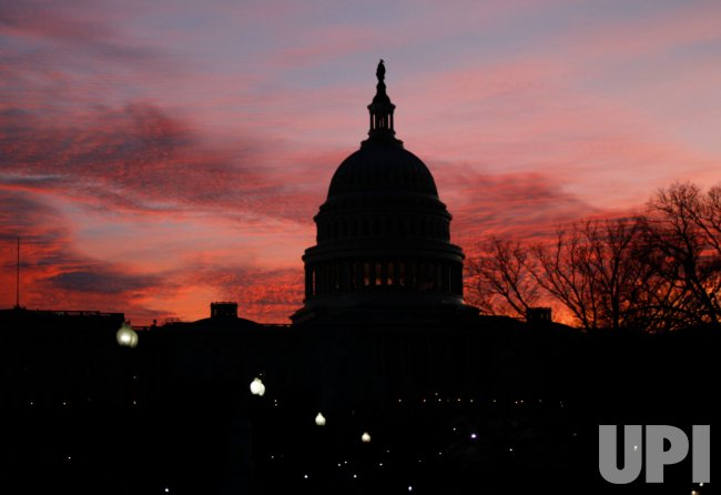 Sun rises on Capitol Hill in Washington