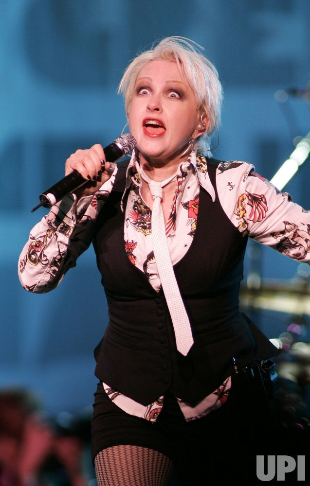 Cyndi Lauper perform in concert in Sunrise, Florida