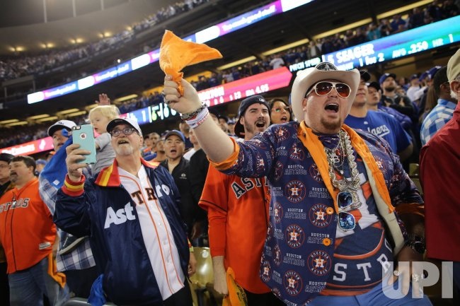 Astros fans cheer at World Series
