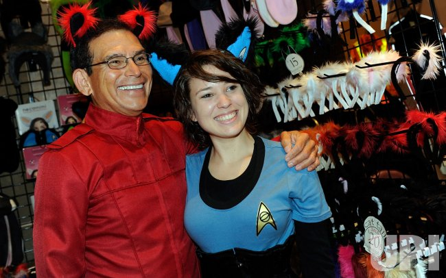 Attendees in costume at the Star Trek Convention in Las Vegas