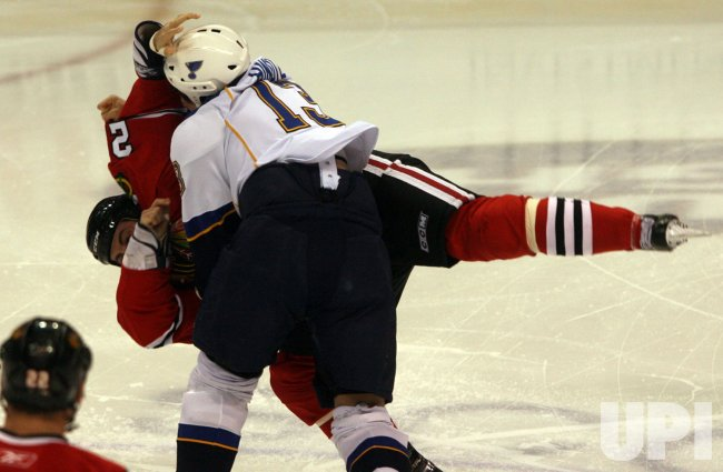 Chicago Blackhawks vs St. Louis Blues hockey