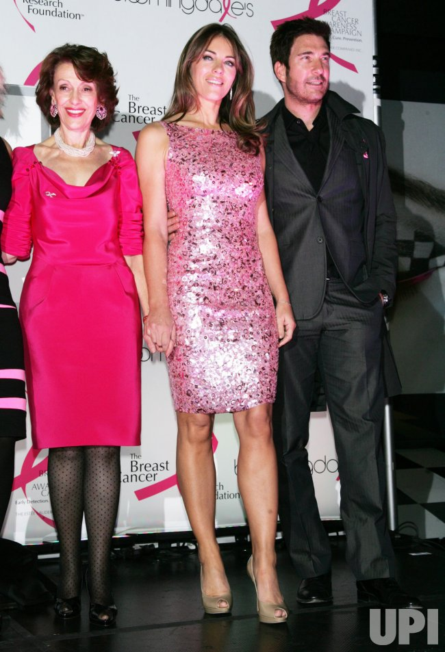 Elizabeth Hurley, Evelyn Lauder and Dylan McDermott light Bloomingdales Pink for Breast Cancer Awareness in New York