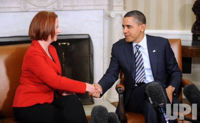 President Barack Obama meets with Prime Minister Julia Gillard of Australia in Washington