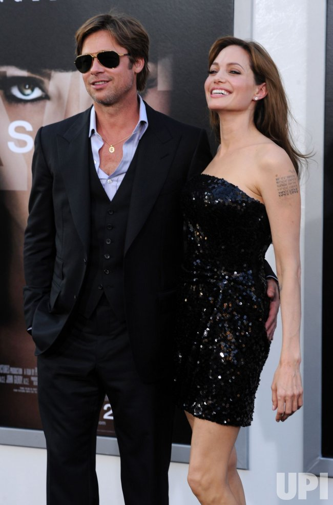"Angelina Jolie and Brad Pitt attend the ""Salt"" premiere in Los Angeles"