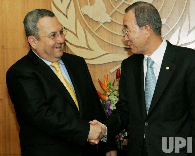 Deputy Prime Minister Barak visits the United Nations