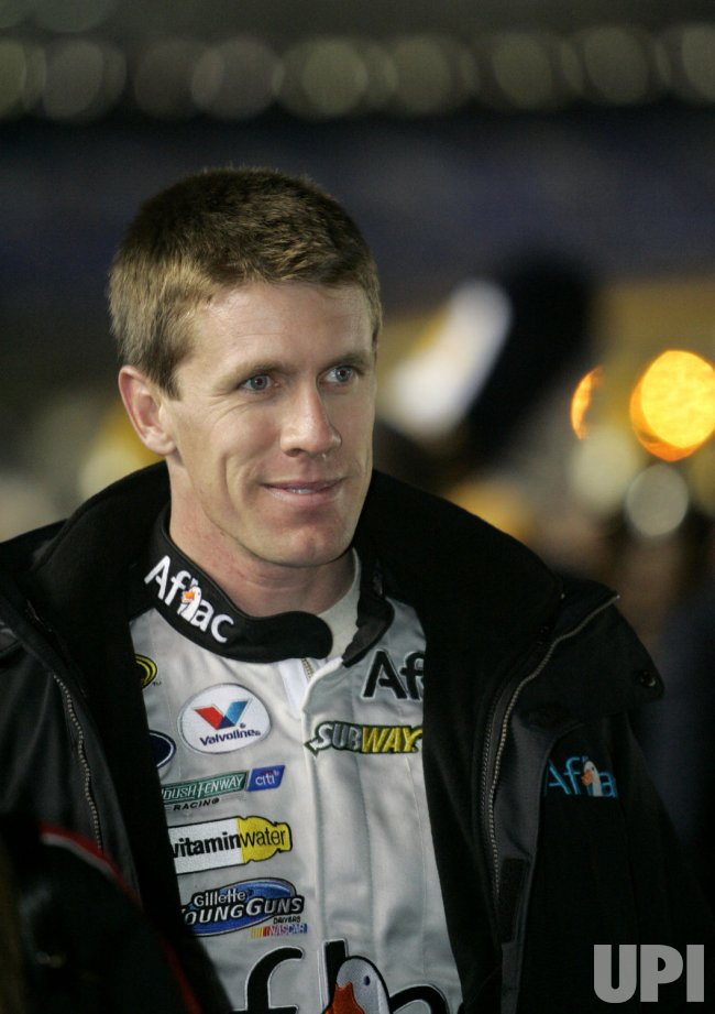 NASCAR driver Carl Edwards at Banking 500 race at Lowe's Motor Speedway in Concord, North Carolina