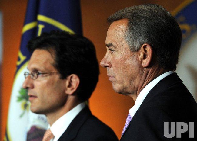 House Speaker Boehner, Leader Cantor call for balanced budget amendment in Washington