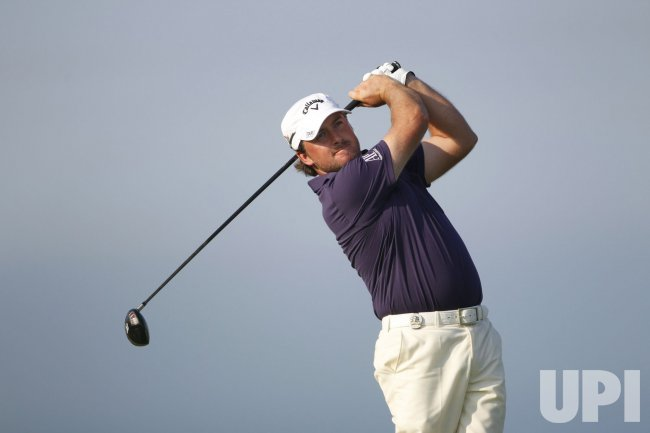 McDowell tees off on 4th hole during the 2010 PGA Championship