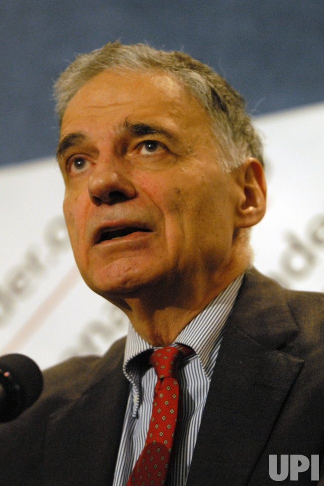 Ralph Nader announces Presidential running mate in Washington