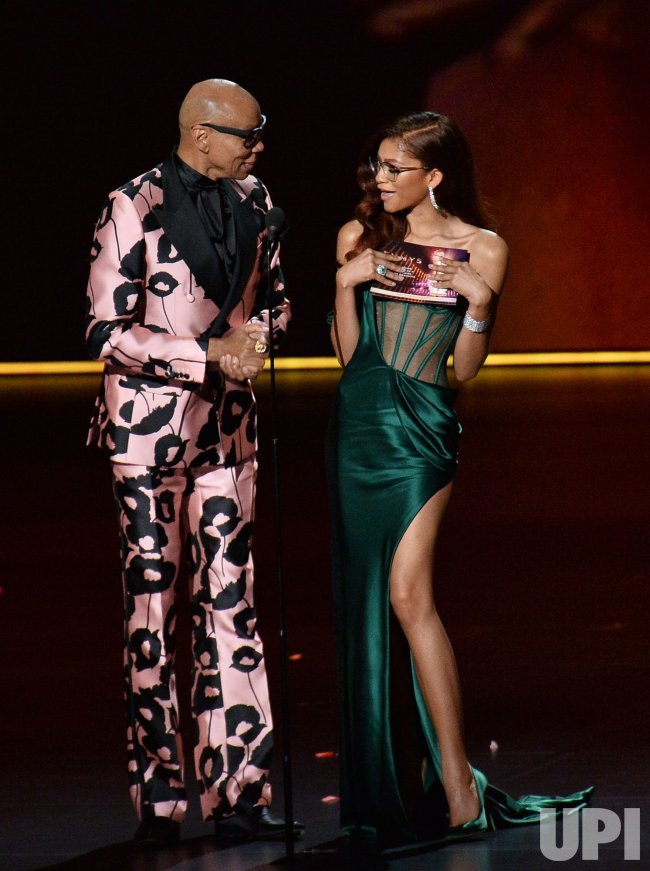 RuPaul and Zendaya at Primetime Emmy Awards in Los Angeles