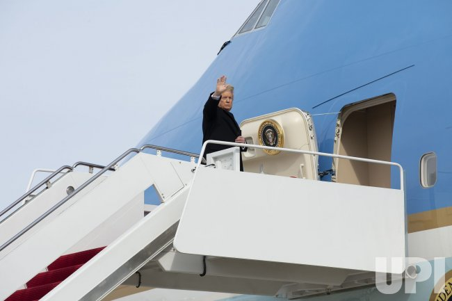 President Donald Trump Departs the White House for Los Angeles, California