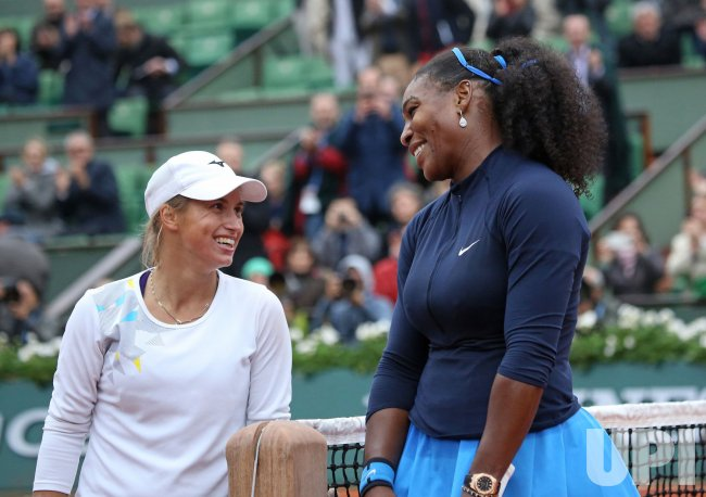 Williams and Putintseva play their quarterfinal match at the French Open