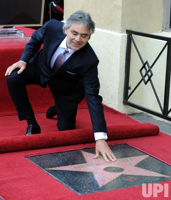 Andrea Boceli receives star on the Hollywood Walk of Fame in Los Angeles