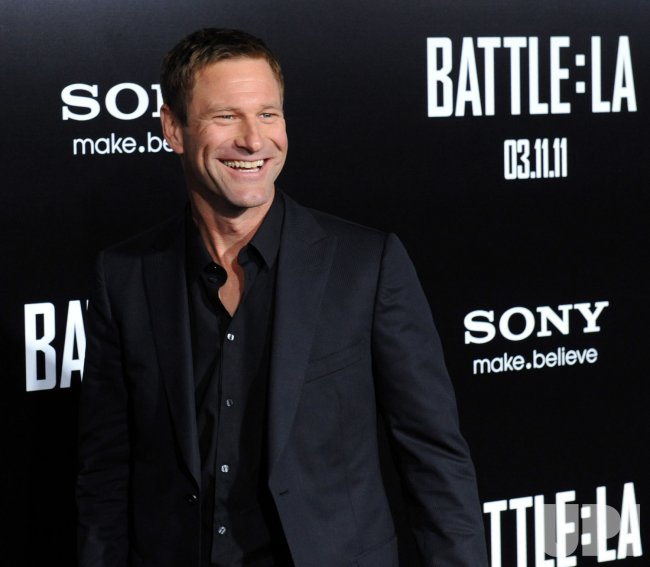 "Aaron Eckhart attends the ""Battle: Los Angeles"" premiere in Los Angeles"