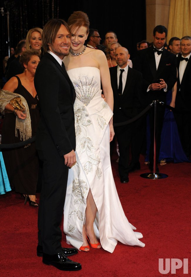 Keith Urban and Nicole Kidman arrive at the 83rd annual Academy Awards in Hollywood