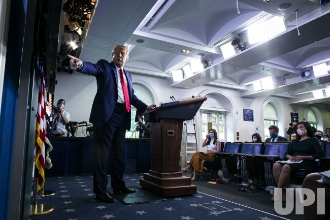 President Trump Holds Press Briefing in Washington