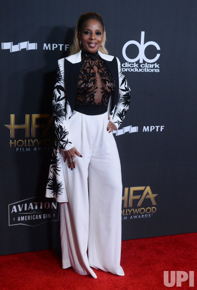 Honoree Mary J. Blige attends 21st annual Hollywood Film Awards in Beverly Hills