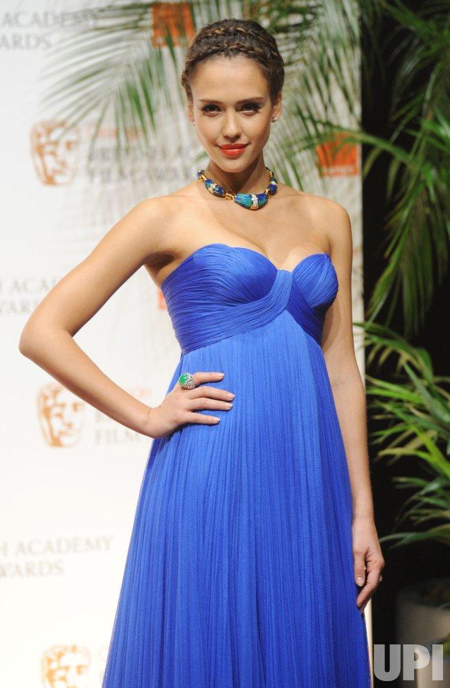 "Jessica Alba attends press room at ""BAFTA"" ceremony in London"