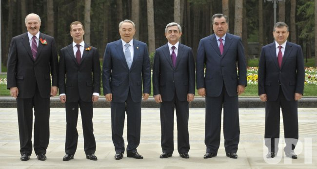 Russian President Medvedev attends the Collective Security Treaty Organisation member states an informal summit