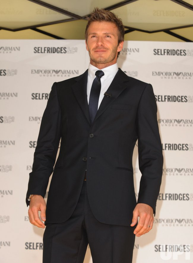 David Beckham photocall in London