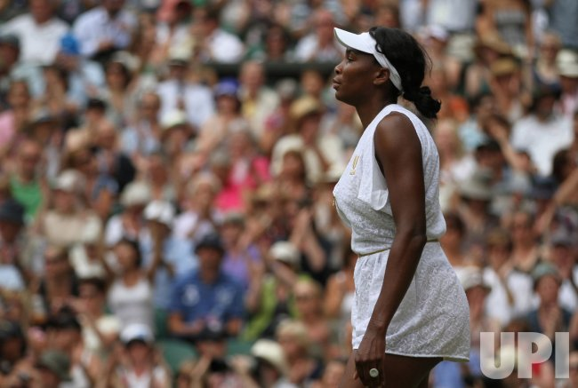 Venus Williams is defeated at Wimbledon.