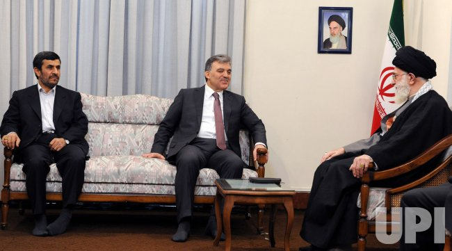 Turkish President Abdullah Gul meets with Iran's Leader Ayatollah Khamenei in Tehran