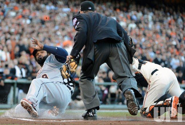 Detroit Tigers vs San Francisco Giants in World Series Game 2 in San Francisco