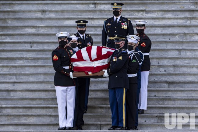 U.S. Capitol Police Officer William Evans Lies in Honor.