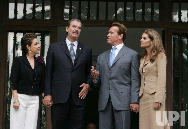 SCHWARZENEGGER MEETS WITH MEXICAN PRESIDENT FOX