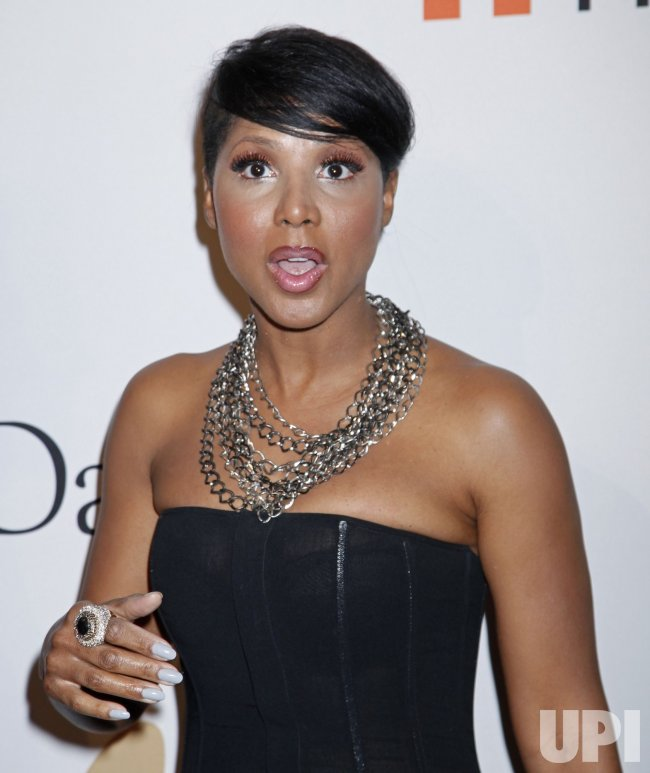 Toni Braxton arrives at the Clive Davis Pre-Grammy Gala in Beverly Hills