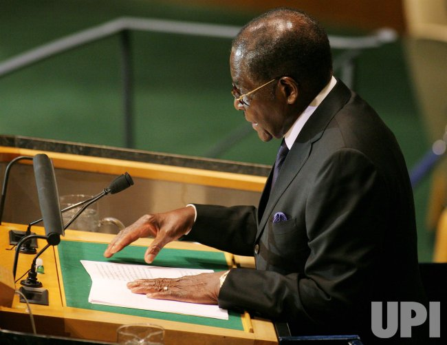 President of Zimbabwe Mugabe addresses General Assembly at United Nations