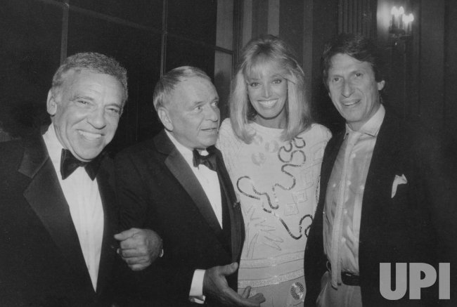 Buddy Rich, Frank Sinatra, Susan Antone and David Brenner at Sponsored Concert