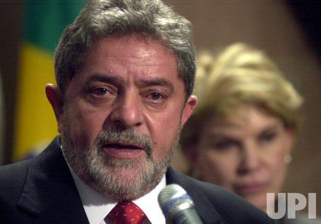 Brazilian President-Elect Luiz Inacio Lula da Silva speaks at AFL-CIO