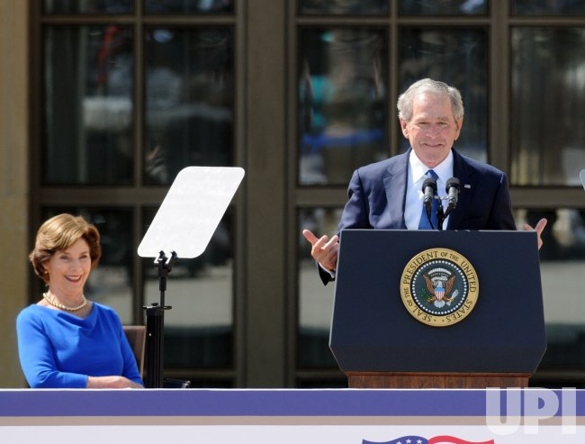 George W. Bush Presidential Library Dedication in Dallas