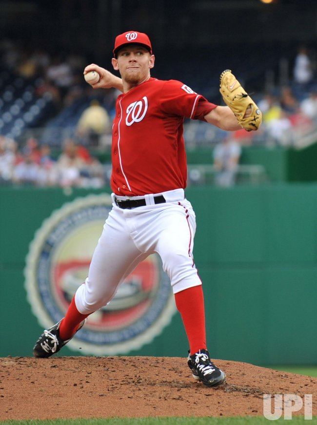 Nationals' pitcher Stephen Strasburg in Washington