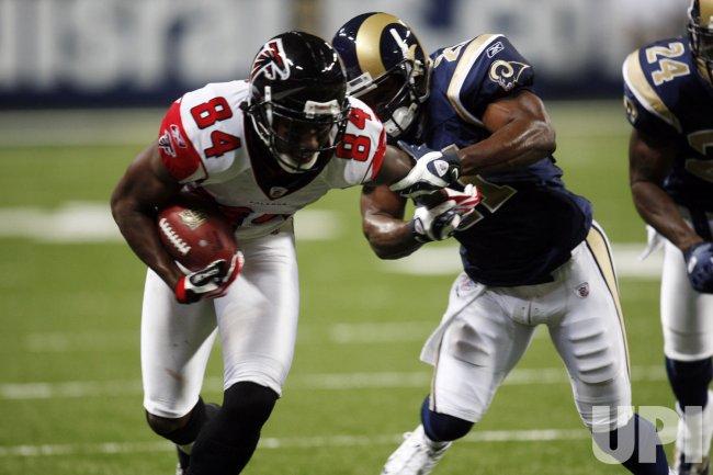 Atlanta Falcons vs St. Louis Rams pre-season football
