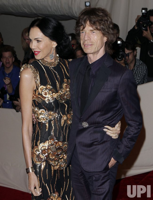 Mick Jagger arrives at the Costume Institute Gala Benefit in New York