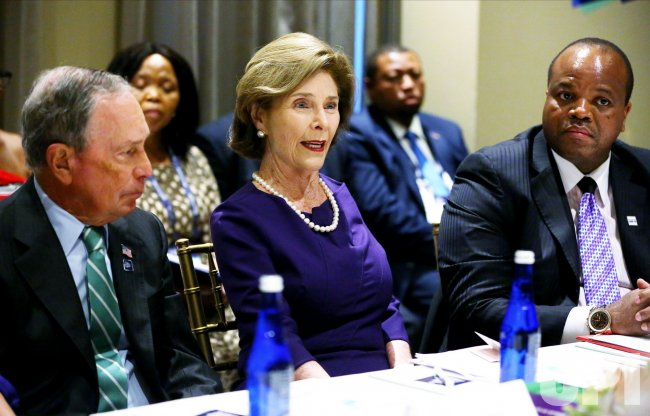 Former First Lady Laura Bush at the Bloomberg Global Business Forum in New York