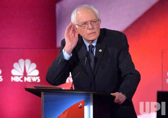Democratic Presidential Candidate Sanders debates in Charleston