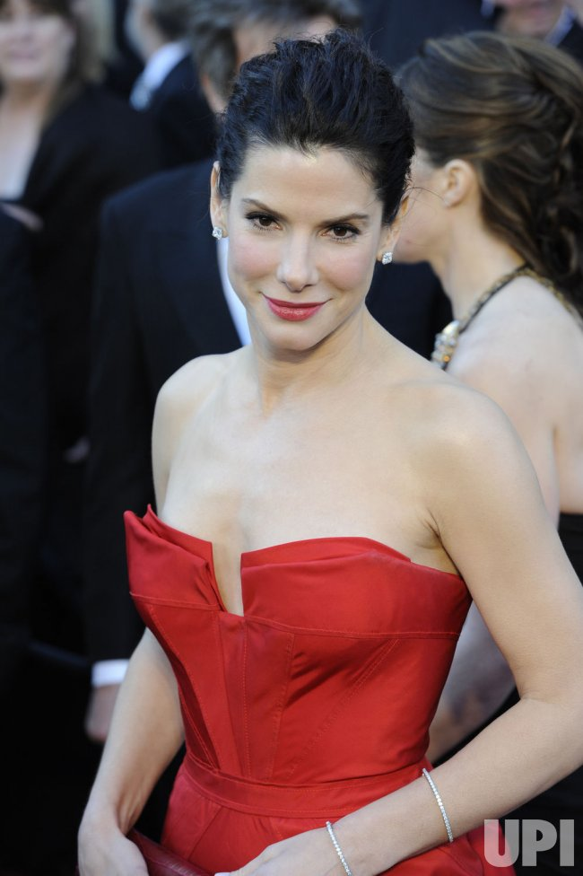 Sandra Bullock arrives at the 83rd annual Academy Awards in Hollywood
