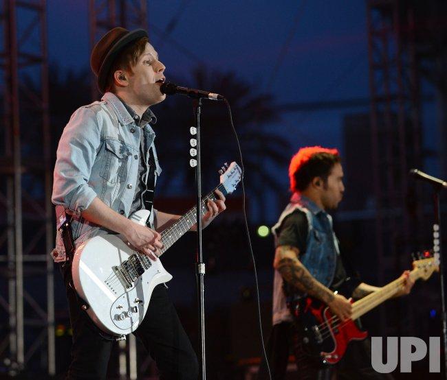 Patrick Stump and Pete Wentz of Fall Out Boy perform at KIIS FM's Wango Tango 2013 in Carson, California