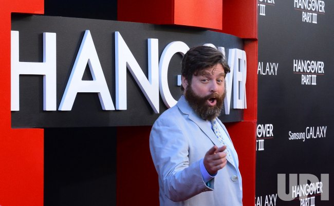 "Zach Galifianakis attends the premiere of ""The Hangover Part III"" in Los Angeles"
