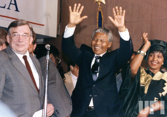 Nelson and Winnie Mandela at AFL-CIO Headquarters
