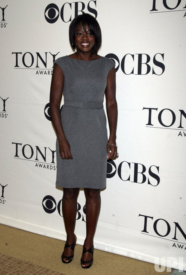 Viola Davis arrives for the 2010 Tony Awards Meet the Nominees Press Reception in New York