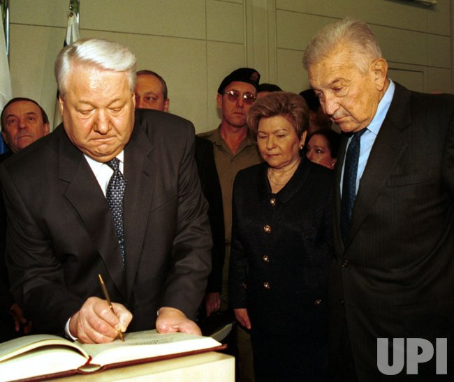 Boris Yeltsin in Jerusalem