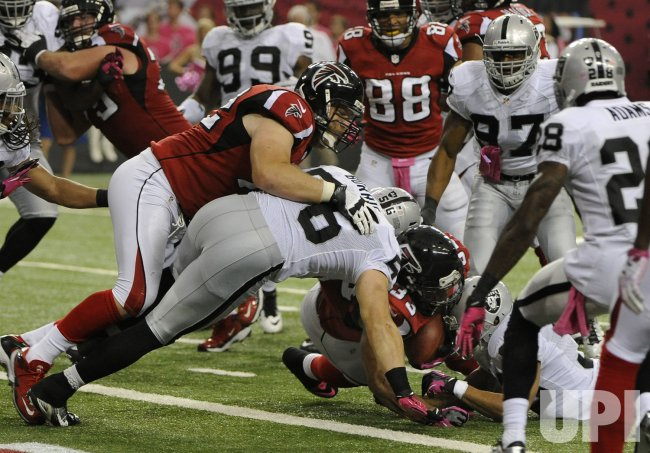The Atlanta Falcons play the Oakland Raiders in Atlanta