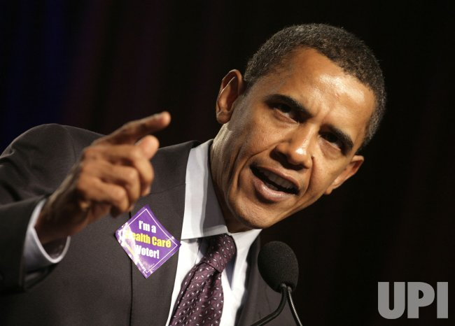 DEMOCRATIC PRESIDENTIAL CANDIDATES SPEAKS AT SEIU CONFERENCE IN WASHINGTON